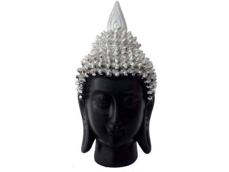 Divinecrafts Meditating Buddha Head Showpiece - 17 cm  (Polyresin, Multicolor)