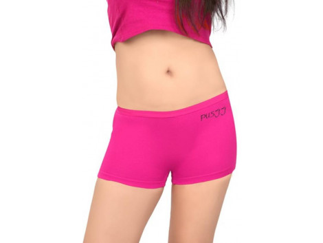 Pusyy Women's Boy Short Pink Panty  (Pack of 1)