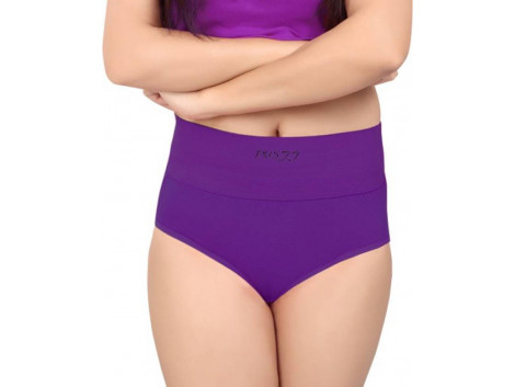 Pusyy Women's Hipster Purple Panty  (Pack of 1)