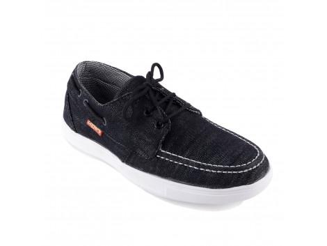 RUDOSE Men's Black Stylo Rock Casual Canvas Shoes
