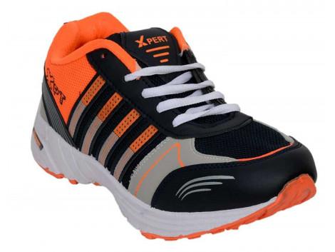 RUDOSE Men's Orange Black Sports & Casual Shoes