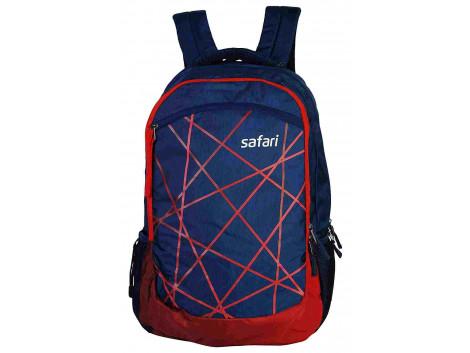 Safari Kaleidoscope 35 Liters Blue & Red Laptop Backpack