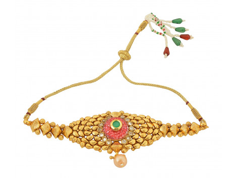 Spe Indian Ethnics Golden Copper Bajuband for Women (A-07)