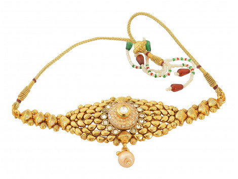 Spe Indian Ethnics Golden Copper Bajuband for Women (A-09)