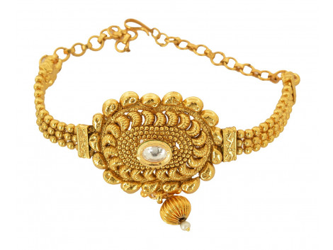 Spe Indian Ethnics Golden Copper Bajuband for Women (A-12)