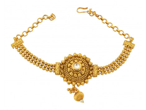 Spe Indian Ethnics Golden Copper Bajuband for Women (A-17)