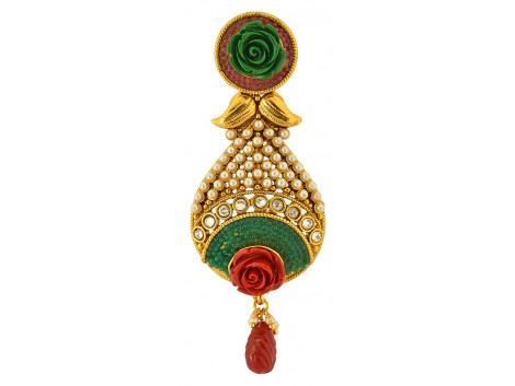 Spe Indian Ethnics Golden Copper Hair Clip for Women (HC-01)