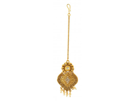 Spe Indian Ethnics Golden Copper Maang Tikka for Women (HL-07)