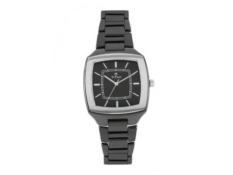 Titan 90016KC01J Men Black Dial Watch