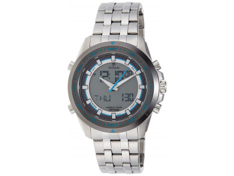 Titan 9495KM01J Octane Analog-Digital Men Watch