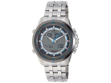 Titan 9495KM01J Octane Analog-Digital Men Watch
