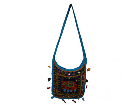 The Living Craft ETHNIC U-SHAPED WOMEN's SLINGBAG with AARI WORK Multicolor TLCBG0266
