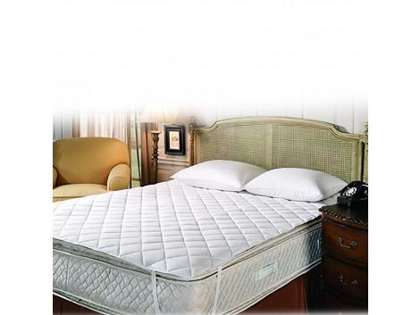 Tuktuk Cotton water resistant Queen Bed Matress Protector (TUKTUK305, White)