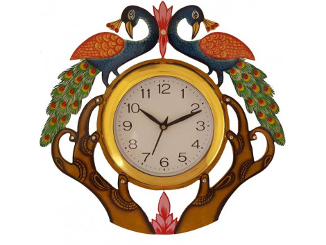 Divinecrafts Analog Wall Clock  (Multicolor, With Glass)