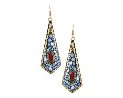 Archiecs Creations Trendy Brass Danglers Earring for Women