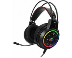 Ant Esports H707 HD RGB LED for PC, PS4, Xbox One Wired Gaming Headset Black, On the Ear