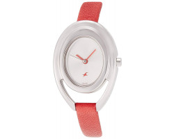 Fastrack NK6090SL01 Analog Silver Dial Women Watch
