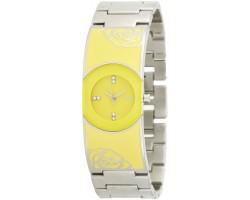 Titan 9818SM04 Analog Yellow Dial Women Watch