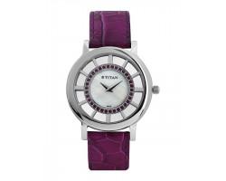 Titan NE9929SL01J Women Pearly White Dial Watch