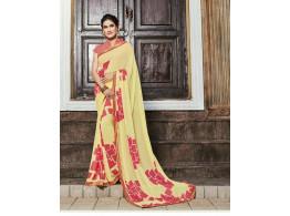 Ziva Designer Printed Multicolor Saree