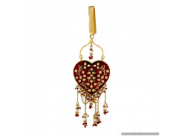 Vatika High Quality True (Pakka) Meenakari Heart Shape Waist Key Chain (Satka) 11