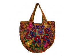 The Living Craft Ethnic Kutch Women's BAG with RABARI Embroidery Multicolor TLCBG0311
