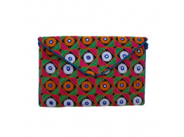 The Living Craft Ethnic Gamthi Embroidered Women's Clutch
