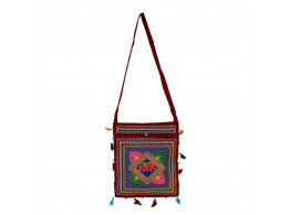 The Living Craft ETHNIC EMBROIDERED WOMEN's SLING BAG Multicolor TLCBG0240