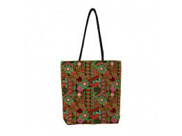 The Living Craft Gamthi Embroidered Women's TOTE Multicolor TLCBG0306