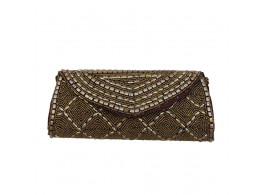 The Living Craft Beaded Dholak Women's Clutch