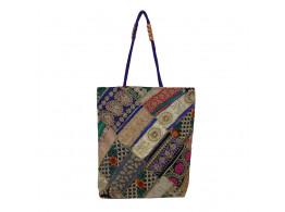 The Living Craft Zari-Gota Patchwork Women's TOTE Multicolor TLCBG0292