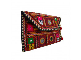 The Living Craft Ethnic Women's Clutch with Kutch Embroidery