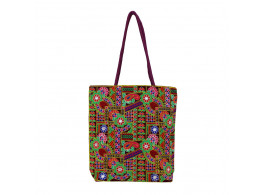 The Living Craft Gamthi Embroidered Women's TOTE Multicolor TLCBG0307