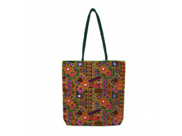 The Living Craft Gamthi Embroidered Women's TOTE Multicolor TLCBG0308
