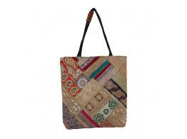 The Living Craft Zari-Gota Patchwork Women's TOTE Multicolor TLCBG0293
