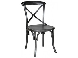 Iron chair Cross back(Black)