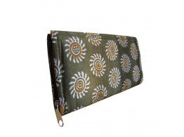 The Living Craft Printed Satin Envelope Clutch