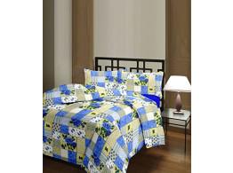 Polycotton Blue Checks Single Bed Ac Blanket