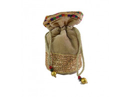Brown leaf Designer Potli Bags handbag for women,Girls,Ladies