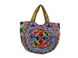 The Living Craft Ethnic Kutch Women's BAG with RABARI Embroidery Multicolor TLCBG0313
