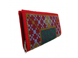 The Living Craft Envelope Clutch with embroidery