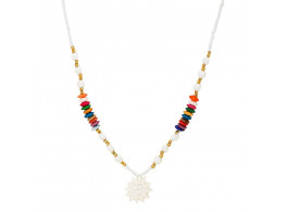 Archiecs Creations Camel Bond & Pearl Chain Necklace for Women