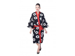 Cotton flower printed free size Bathrobes