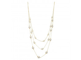 Archiecs Creations Alloy Pearl Stud White Chain Necklace for Women