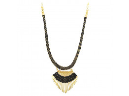 Archiecs Creations Alloy Silk Thread Black & Golden Charm Necklace for Women