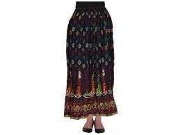 Archiecs Creations Women's Cotton Regular Fit Skirt (Blue)-Free Size