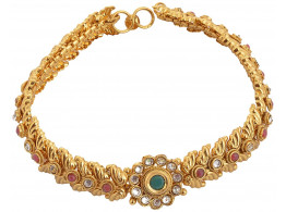 SPE Golden Color with MultiStone Long Anklet for Women (SPE P(A) 21)
