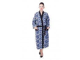 Switchon Cotton printed free size Bathrobe