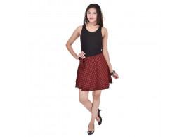 Pezzava Cotton Printed Wraparound Mini Skirt