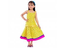 Archiecs Creations Beautiful Lehariya Lehanga Choli Set For Girls As a Skirt with Top set
